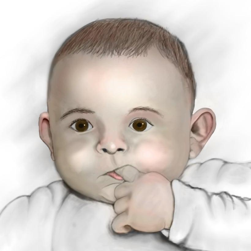 Digital painting de mi sobrino. -1