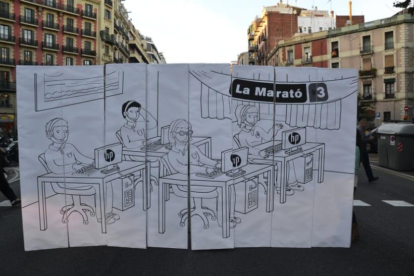 Digital illustration | Scenemob stages. Marató de Barcelona, social event. Casal Infantil Urgell, Ajuntament de Barcelona 5