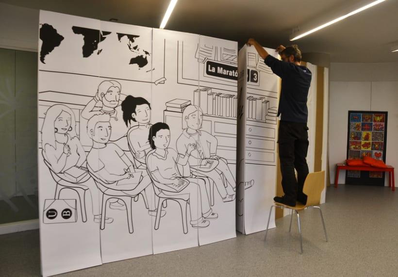 Digital illustration | Scenemob stages. Marató de Barcelona, social event. Casal Infantil Urgell, Ajuntament de Barcelona 6