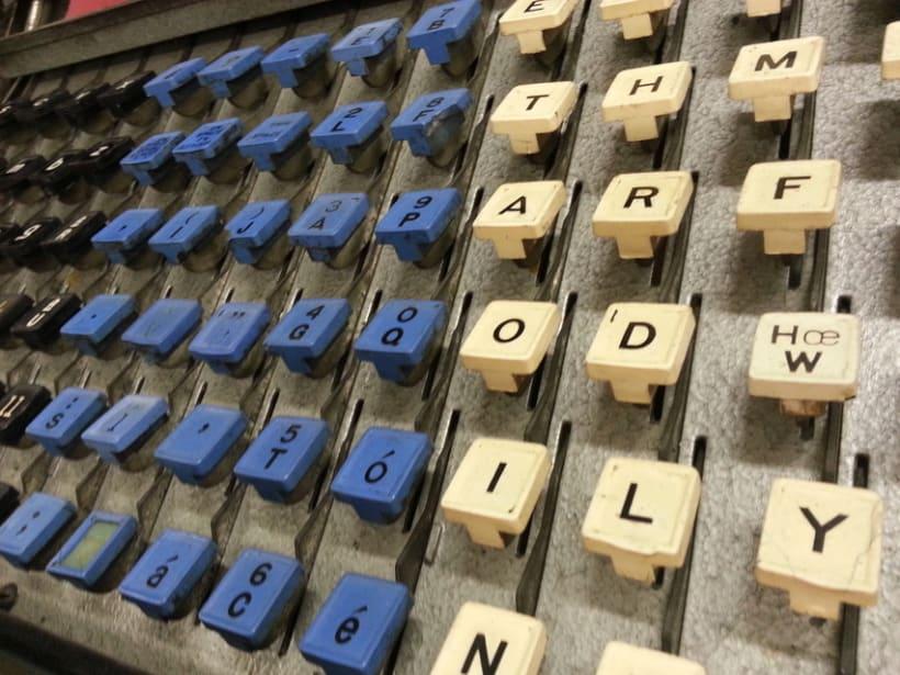 La linotipia, primer sistema automático de composición de textos 2