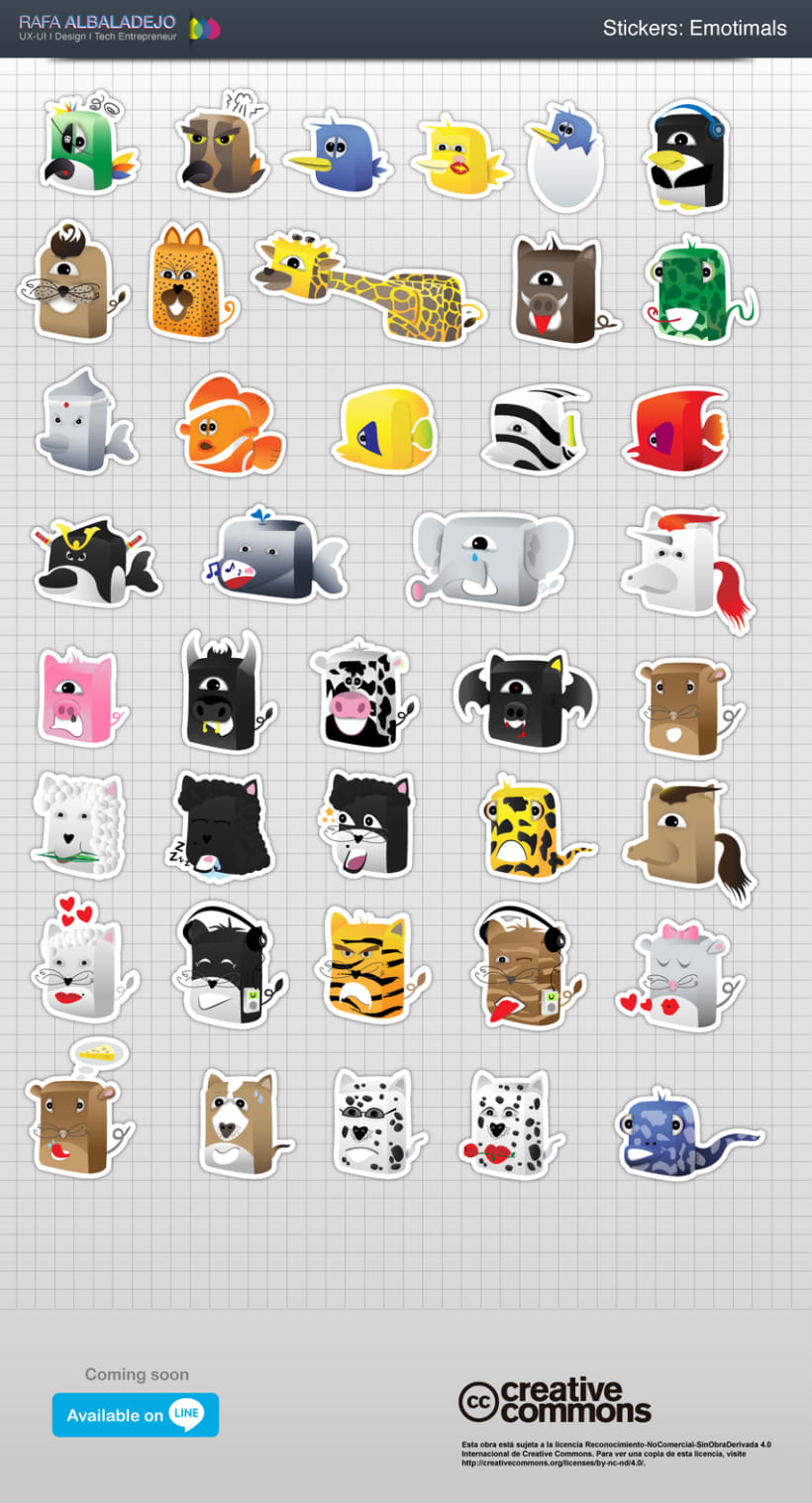 Emotimals: Stickers para LINE App 0