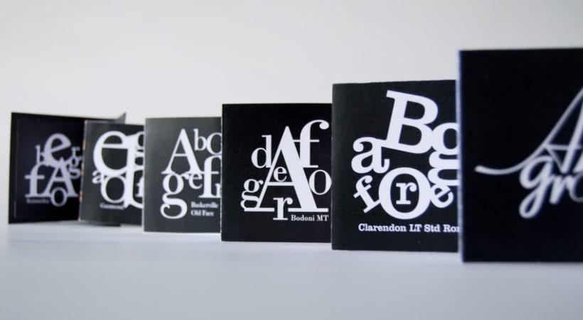 """""""Ensalada tipográfica"""" Libro de Artista. 1"""