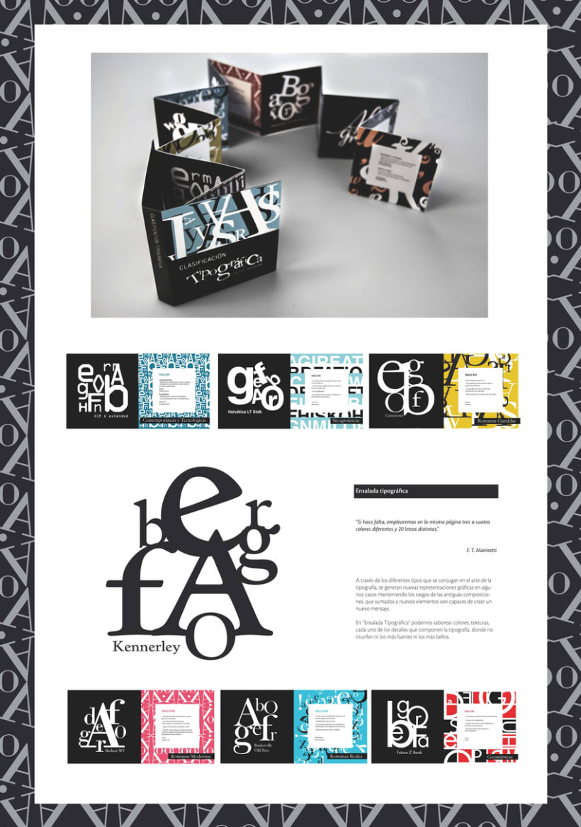 """""""Ensalada tipográfica"""" Libro de Artista. 3"""