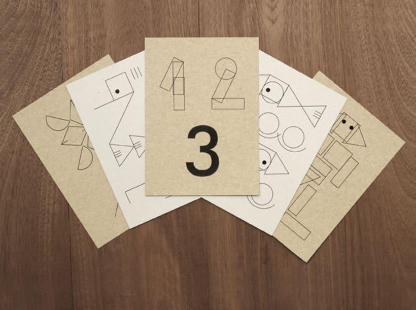 Geometric stamps set 3