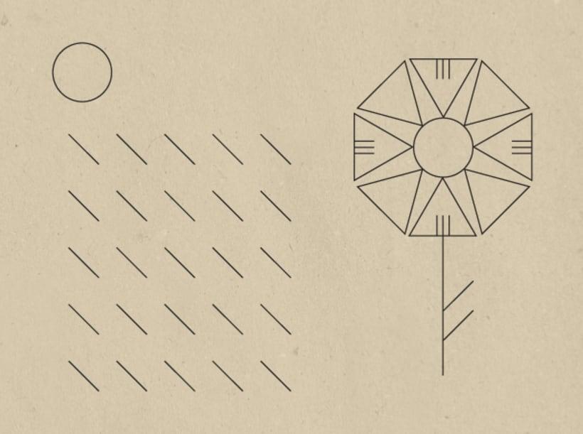 Geometric stamps set 6