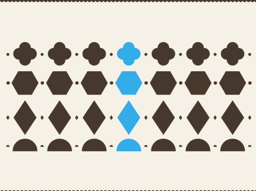 Geometric stamps set 0