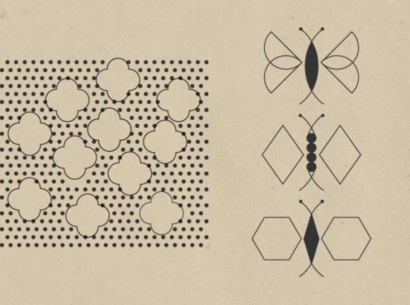 Geometric stamps set 5
