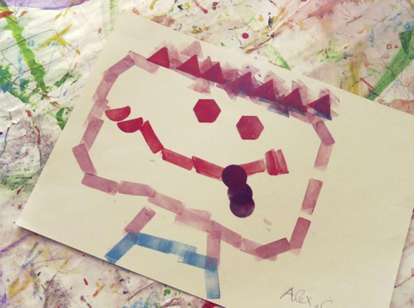 Geometric stamps set 8