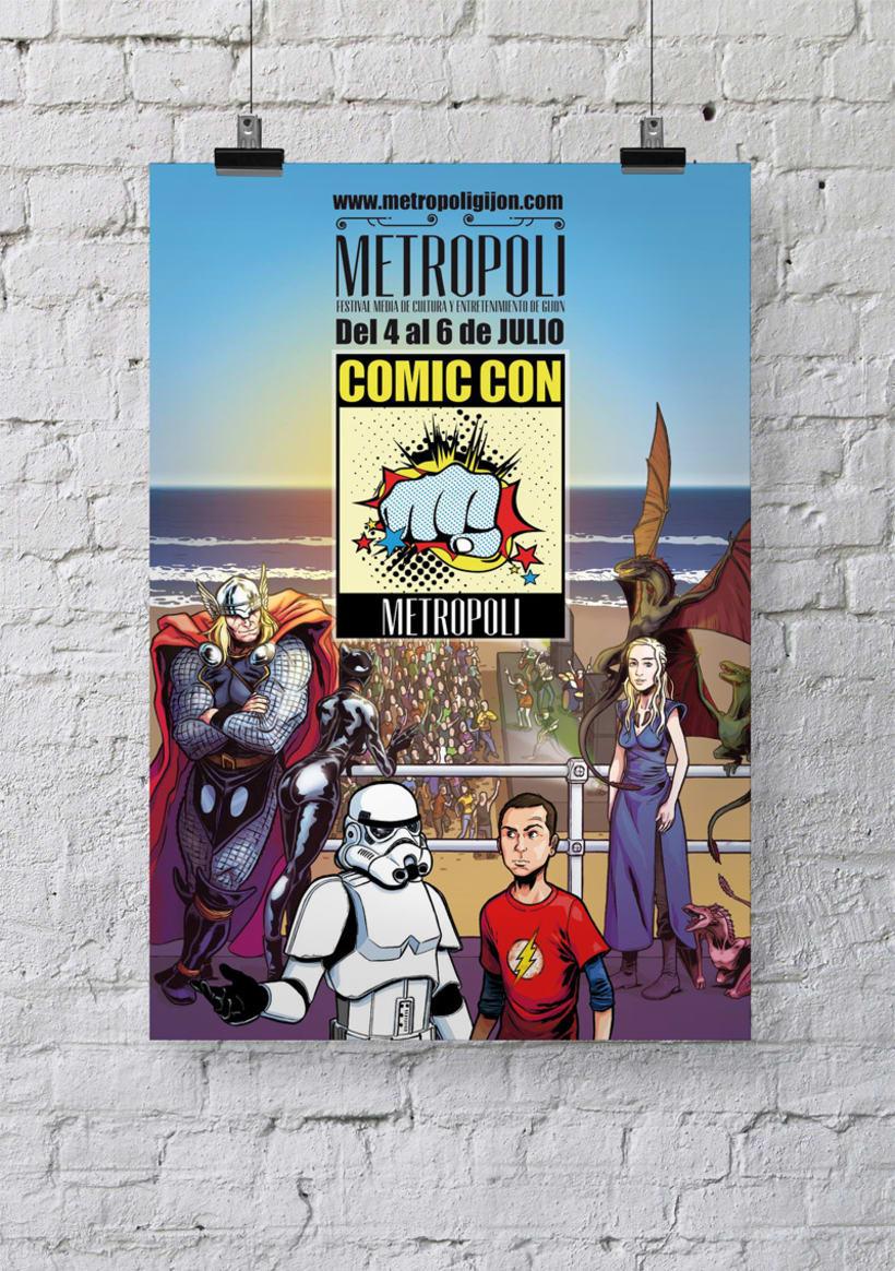 Ilustración cartel ComicCon Metropoli 0