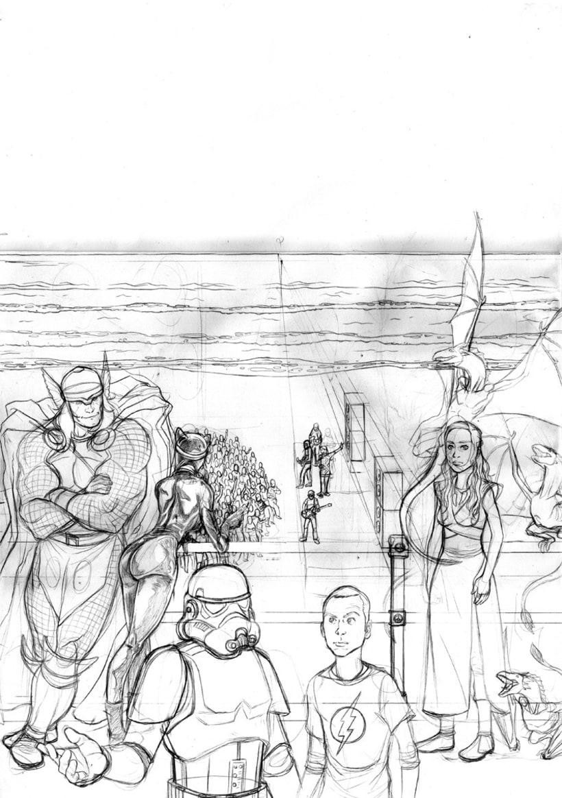 Ilustración cartel ComicCon Metropoli 2