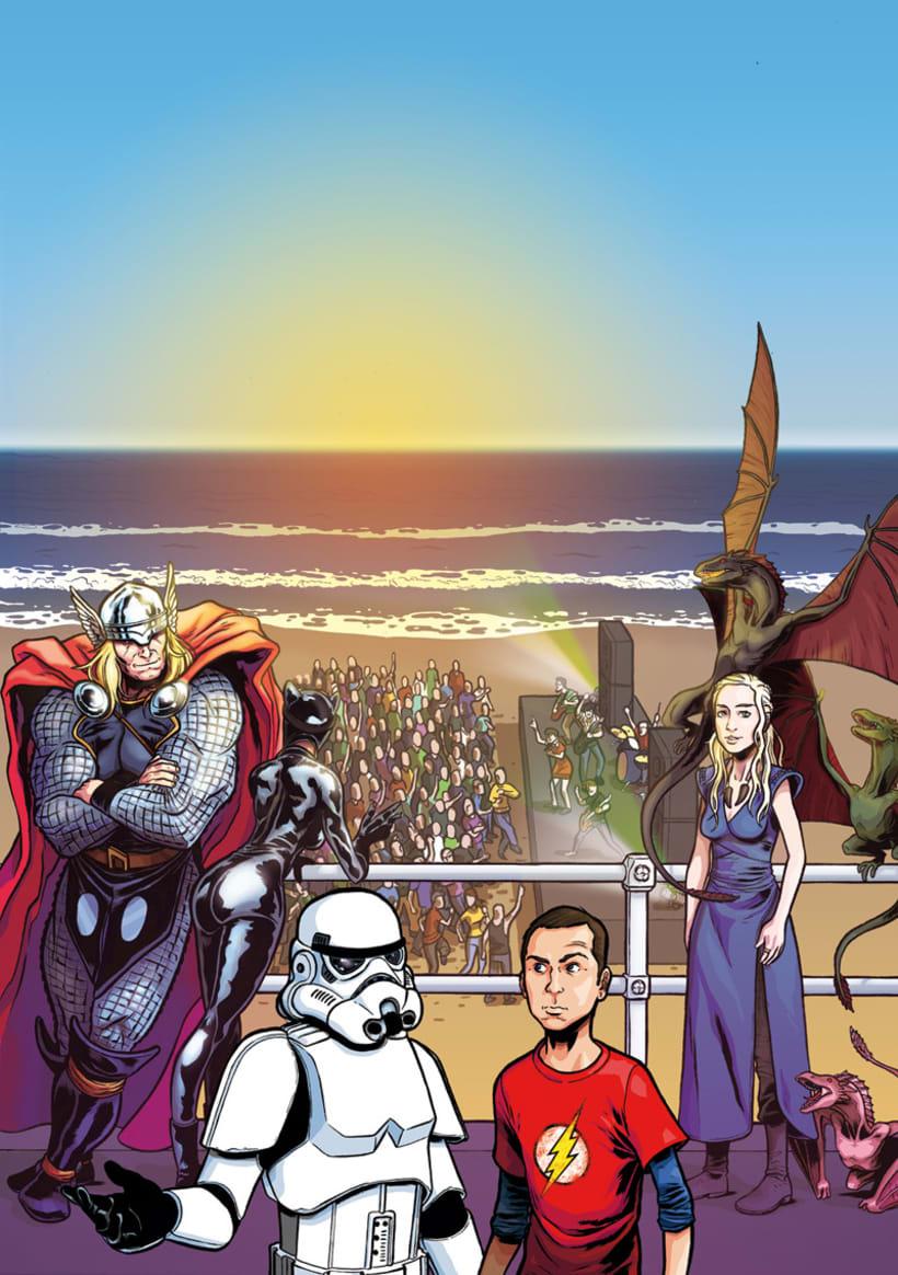 Ilustración cartel ComicCon Metropoli 5