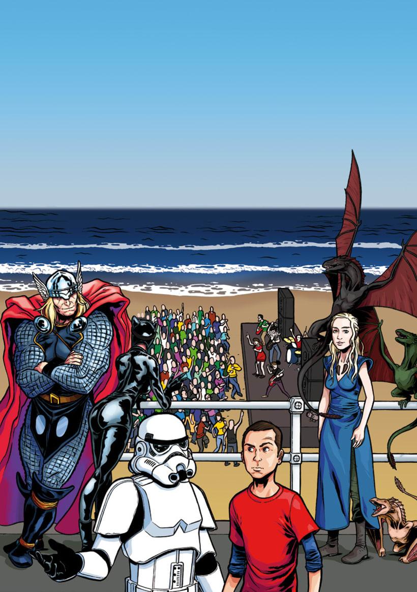 Ilustración cartel ComicCon Metropoli 4
