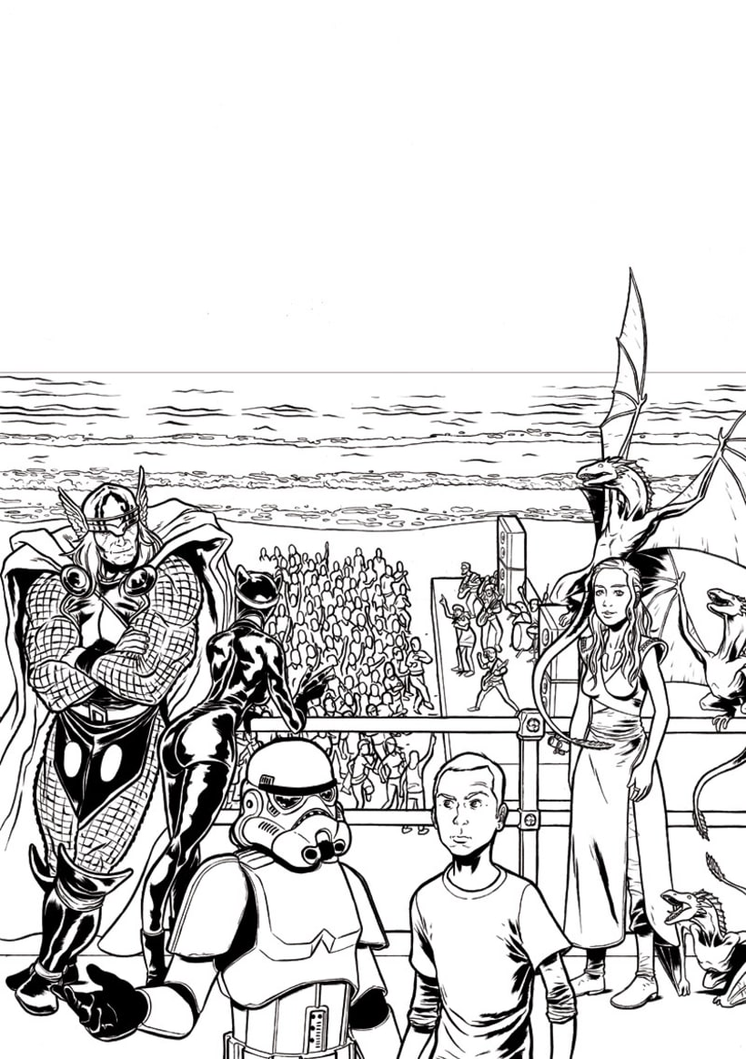Ilustración cartel ComicCon Metropoli 3