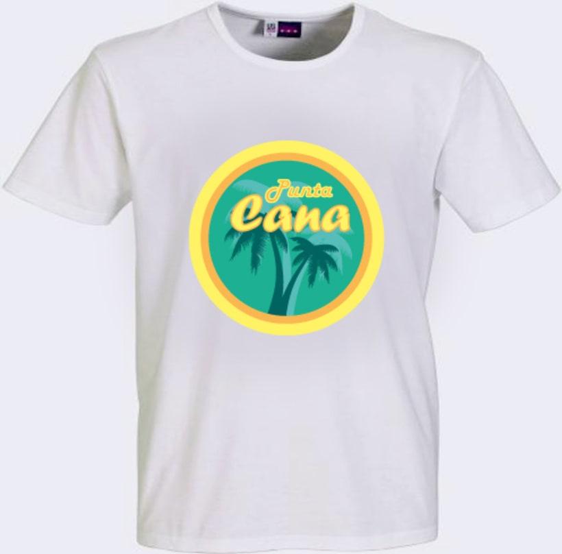 """Diseño Logo Camiseta """"Punta Cana"""" -1"""