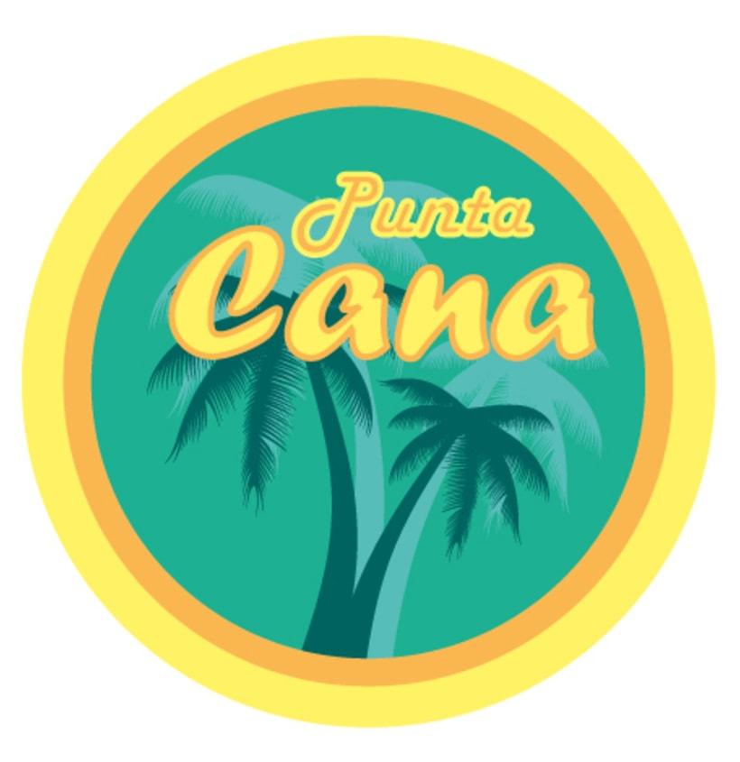 """Diseño Logo Camiseta """"Punta Cana"""" 0"""
