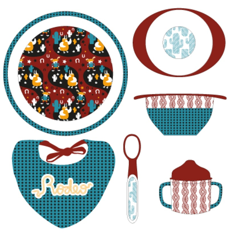 Pattern | Child tableware winter collection 1