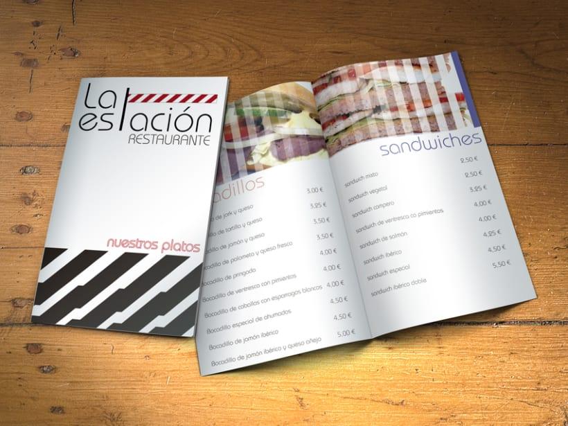 """Carta Restaurante """"La Estación"""" 1"""