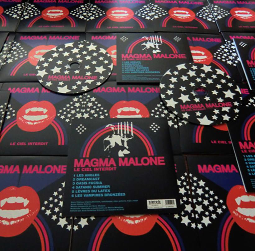 Magma Malone CD Artwork (Siete Señoritas Gritando, 2013) 0