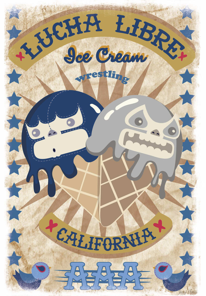 ice cream wrestling (mexican kawaii style) -1