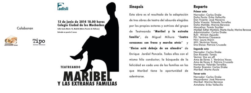 Díptico Maribel y las extrañas familias -1