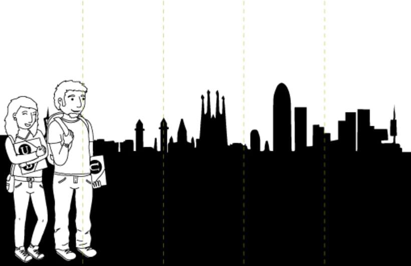 Digital illustration | Scenemob stages. Marató de Barcelona, social event. Casal Infantil Urgell, Ajuntament de Barcelona 0