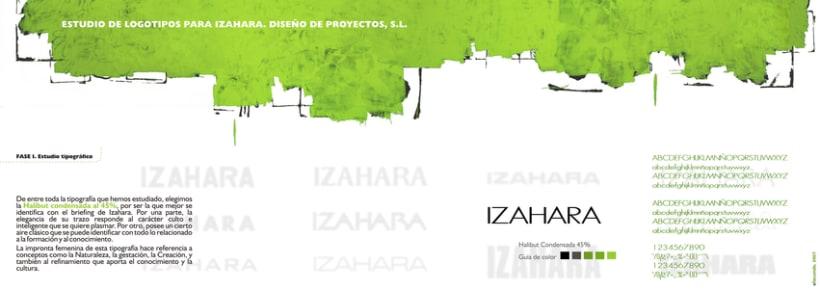 Estudio de branding para Izahara Diseño de Proyectos. 1