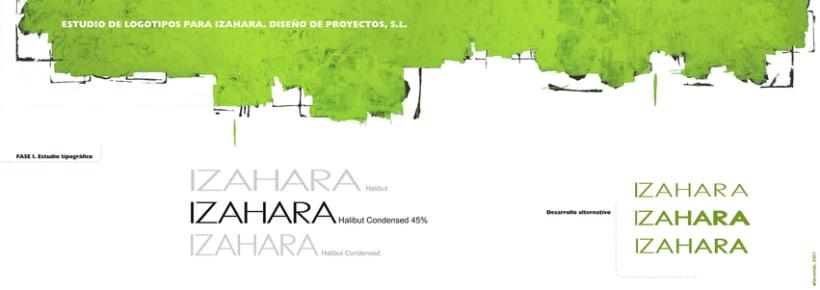 Estudio de branding para Izahara Diseño de Proyectos. 2