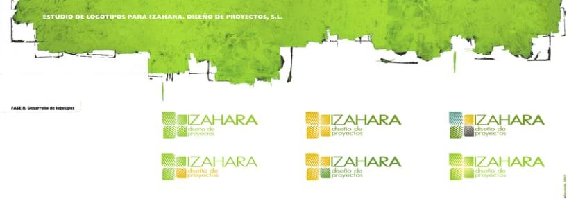 Estudio de branding para Izahara Diseño de Proyectos. 4