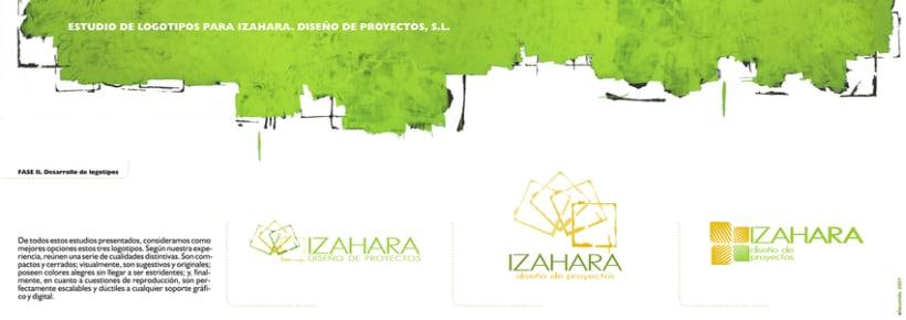 Estudio de branding para Izahara Diseño de Proyectos. 3