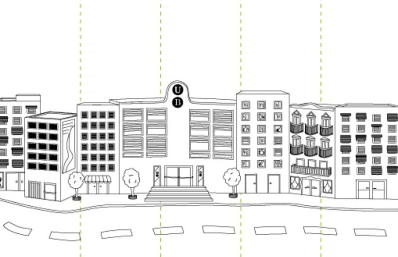 Digital illustration | Scenemob stages. Marató de Barcelona, social event. Casal Infantil Urgell, Ajuntament de Barcelona 2
