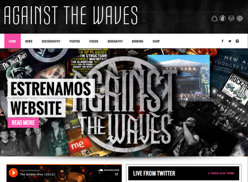 Against The Waves Webstise 0
