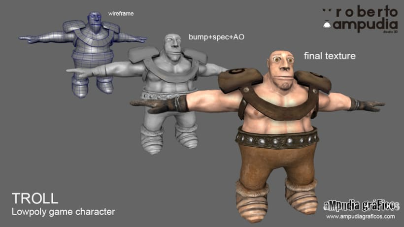 Troll Lowpoly Game Character -1