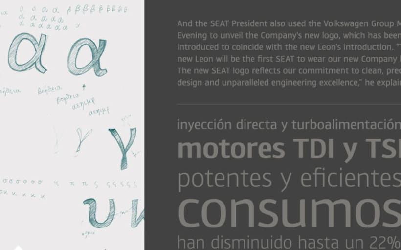 Tipografía SEAT 2