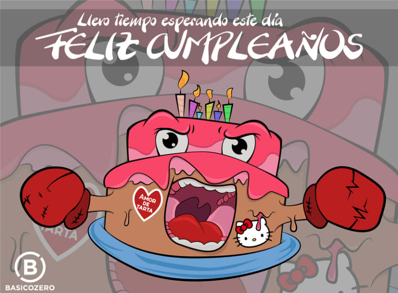 Tarjeta de cumpleaños Tarta Furiosa 1