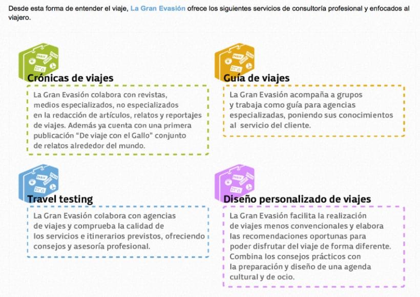 La Gran Evasión | una web profesional que combina experiencias y servicios 2