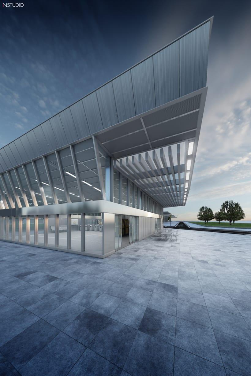 CG Images - Arquitectura estación de Ferrocarriles 0