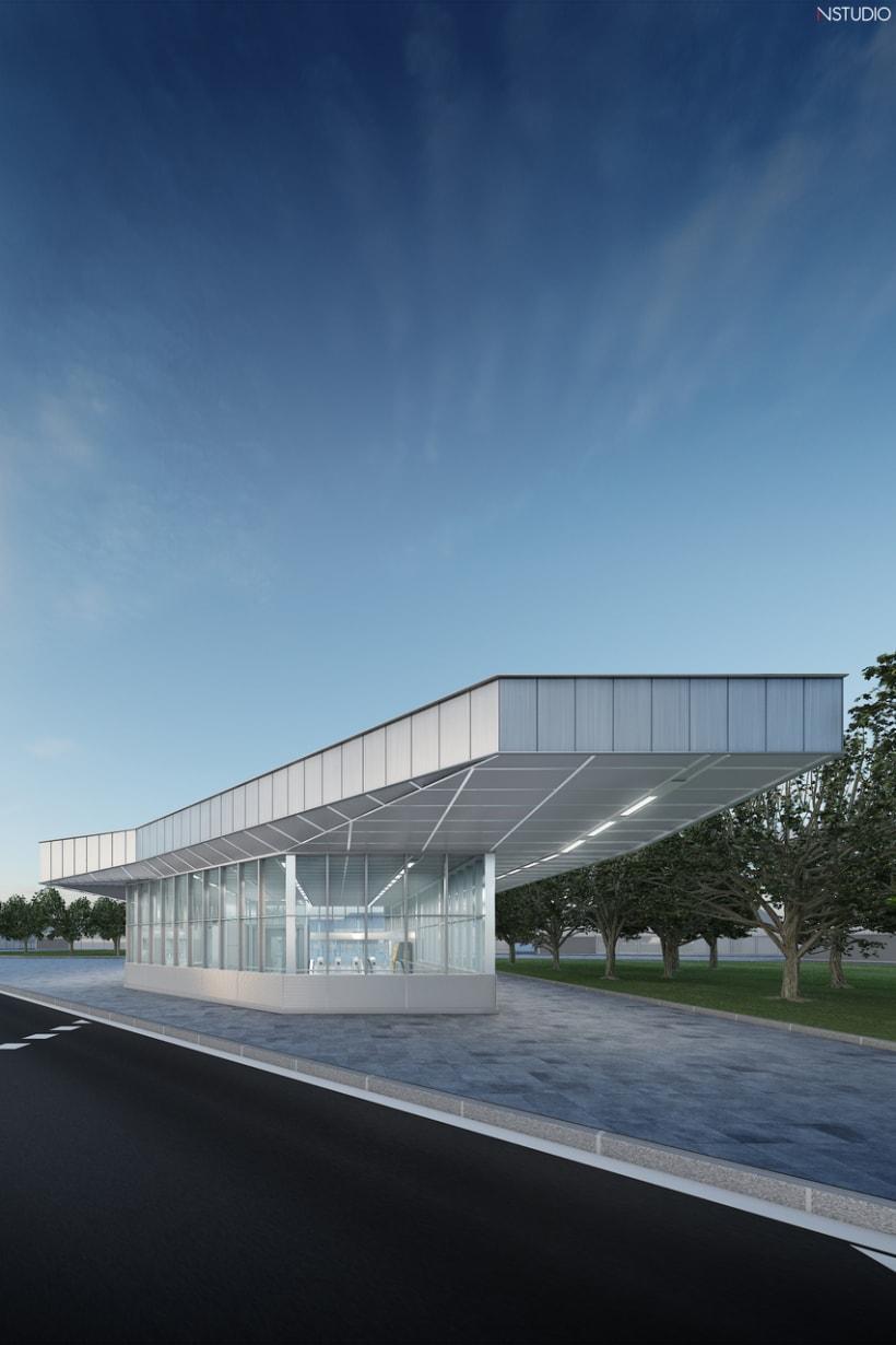 CG Images - Arquitectura estación de Ferrocarriles 1