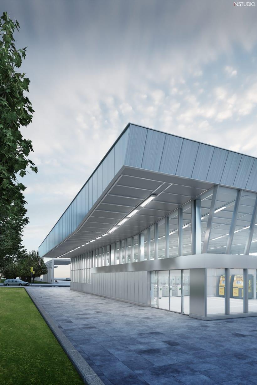 CG Images - Arquitectura estación de Ferrocarriles 3