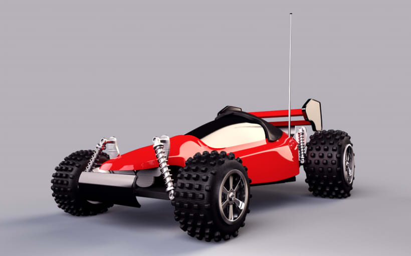R/C Car (modeling, texturing and lightning) C4D+VRAY -1