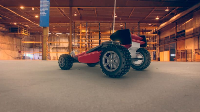 R/C Car (modeling, texturing and lightning) C4D+VRAY 0