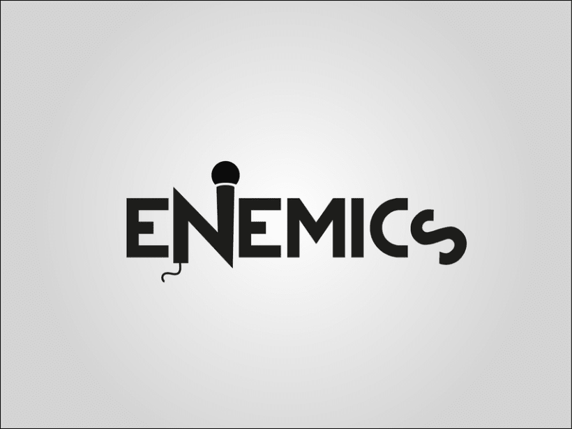 Logotipo e imagotipo Enemics 0
