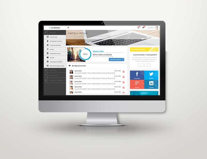 E-learning Responsive Web App 0