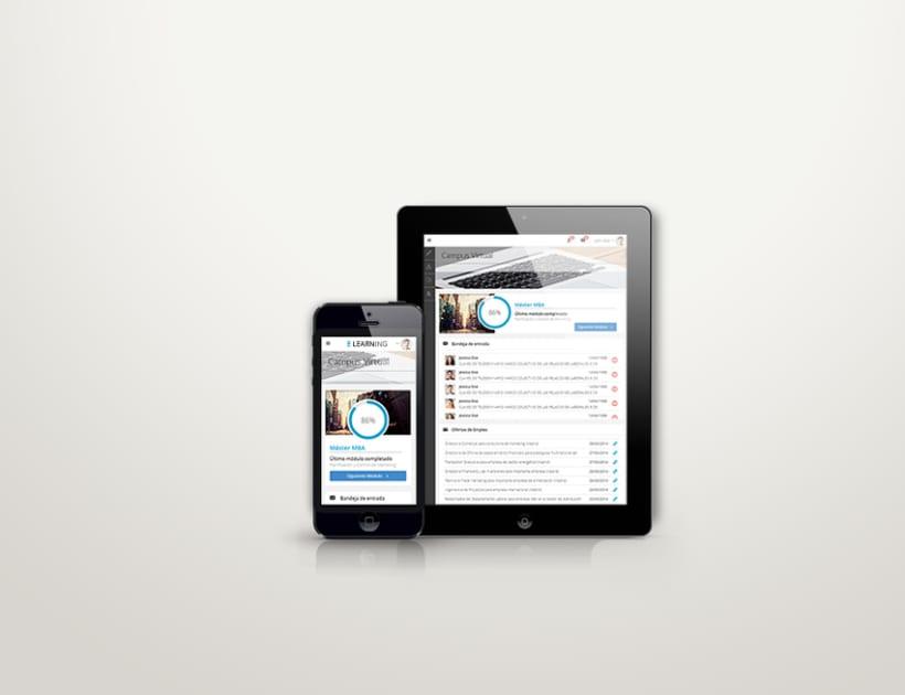 E-learning Responsive Web App 1