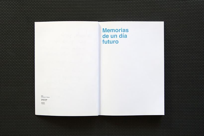 Diseño y maquetación para el libro: Memorias de un día futuro,  de Nelo Curti. 2