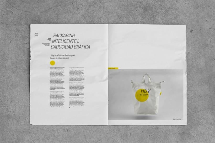 Diseño editorial / NewsDay,  para  Hoy es el día, estudio de diseño sostenible. 1