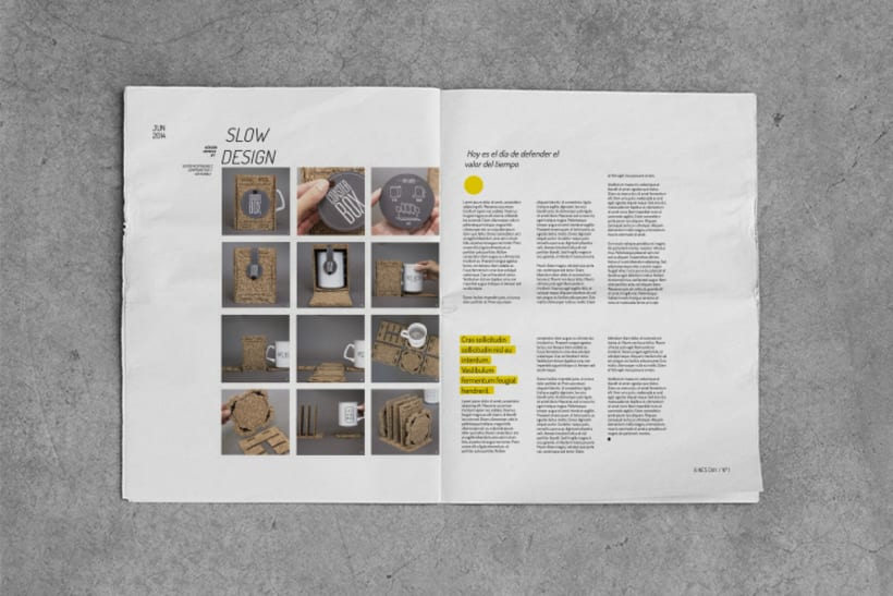 Diseño editorial / NewsDay,  para  Hoy es el día, estudio de diseño sostenible. 2