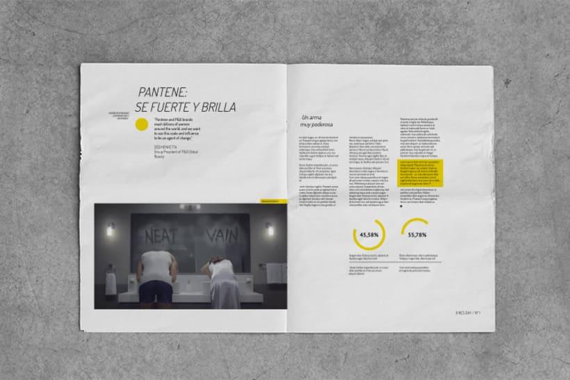 Diseño editorial / NewsDay,  para  Hoy es el día, estudio de diseño sostenible. 4