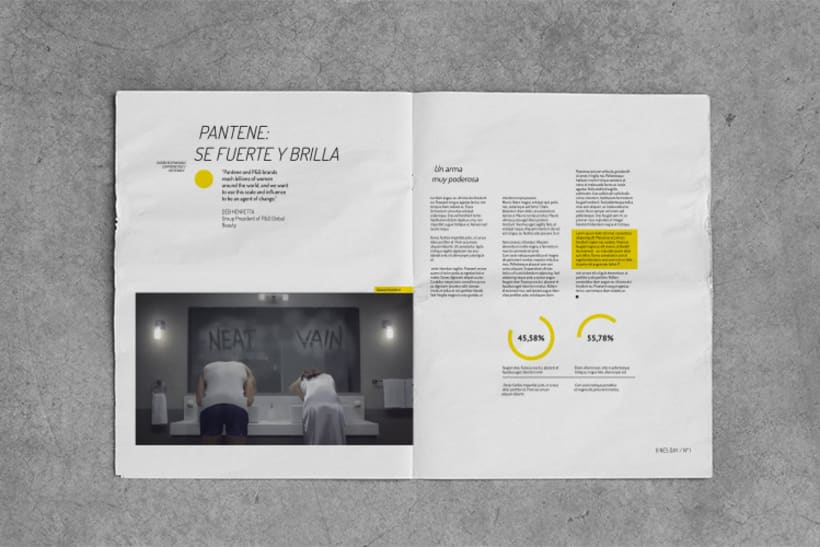 Diseño editorial / NewsDay,  para  Hoy es el día, estudio de diseño sostenible. 3