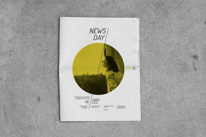 Diseño editorial / NewsDay,  para  Hoy es el día, estudio de diseño sostenible. 0