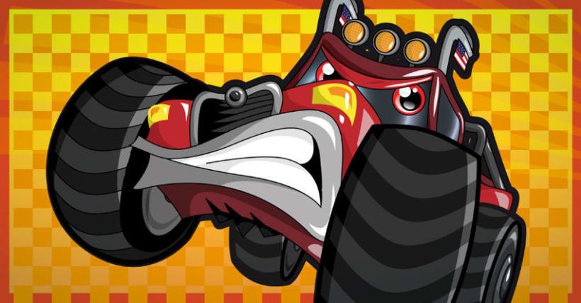 Diseño de personajes mecánicos estilo cartoon  3